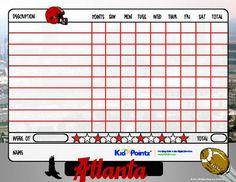 Printable Chart | Sports Team Theme | Kid Pointz