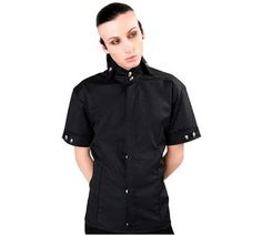 Mao Shirt Denim Black