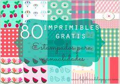 80 imprimibles gratis: estampados para manualidades
