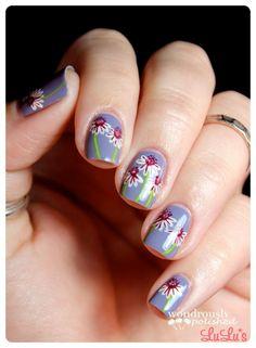 Fresh floral nails #ManicureMonday