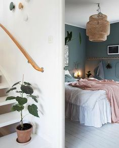 Home Interior Inspiration my scandinavian home: Green and Pink Accents in a Beautiful Swedish Family Home Bedroom Green, Home Bedroom, Bedroom Decor, Bedrooms, Design Salon, Home Design, Interior Design, Scandinavian Home, New Room
