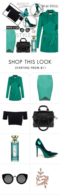 """Nice to meet you :)"" by annabelle-477 ❤ liked on Polyvore featuring Posh Girl, American Apparel, Givenchy, Bulgari, Quay and Anne Sisteron"