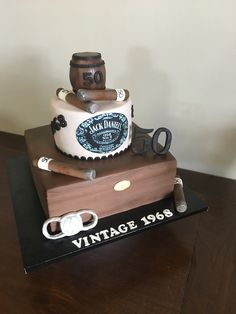 Birthday Party Ideas for Dad Cigar Birthday Cake Cake Creations by Leah 50th Birthday Cakes For Men, 50th Birthday Party Ideas For Men, 50th Birthday Decorations, 40th Birthday Parties, Dad Birthday, 50th Party, Cigar Cake, Cigar Party, Decorating Supplies