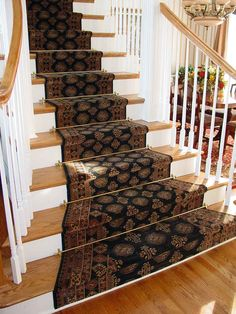 This Specialized Custom Stair Runner Is Unique As It Enlarges With The Stairs Dark