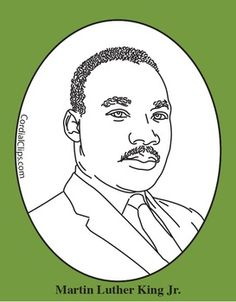 Martin Luther King Jr. Color Clip Art or Mini Poster | King jr ...