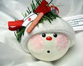 hand painted personalized ornaments on Etsy, a global handmade and vintage marketplace.