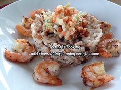mixed wild rice with scampi