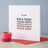 Personalised Perfect Together Card