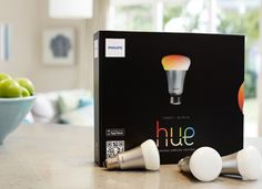 Really expensive Phillips HUE light bulbs, but so cool. They run on a mobile app and can be set to any color, including custom colors. You can also control the rate at which they get bright in the morning for a gradual wake up.