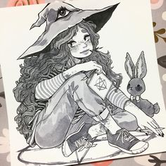 "4,056 Likes, 20 Comments - Alisa Vysochina (@alisavysochina) on Instagram: ""Dreamy witch for day 11 #witchtober #inktober2016 #inktober"""
