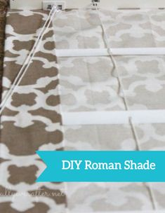 Turn ordinary mini-blinds into a gorgeous DIY Roman Shade in this easy project. Choose your favorite fabric and enjoy making this decorative craft!