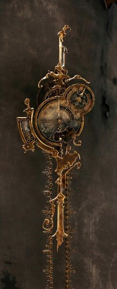 amazing steampunk clock!
