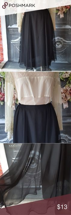 Vintage black tulle ballerina type skirt size 6 p Vintage black tulle ballerina type skirt size 6 p  Has elastic waist band     Pre owned condition *******All items are in pre owned condition, Nothing, unless noted , is brand new **** please ask questions For sale in my posh closet  LINK IN MY BIO Patra Skirts Midi