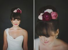 love the bride's hair + hairpiece!