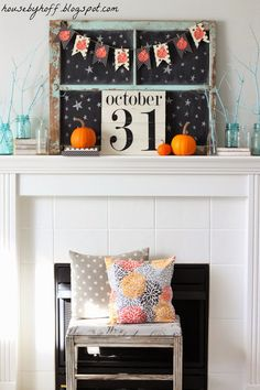 A DIY Halloween Mantel - House by Hoff