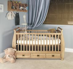 BaumHaus Amelie Cot - Bed with 3 Drawers - White Rose Baby Boutique - 1