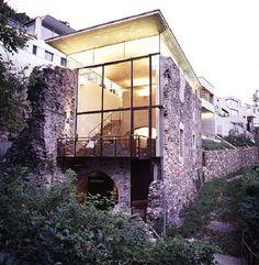 Mulino - Haus am Luganer See/CH - Glas und Beton in altem Gemäuer - Objekte - Beton.org