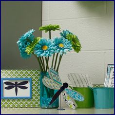 Pretty Paisley dragonfly accents look great in frames, on boards, or in place card holders. $ www.classroominspirations.com