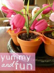 yummy spring flower pot dessert!
