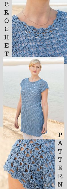 Deep Sea Tunic Crochet Pattern - Spring Crochet- Summer Crochet- Summer Tops Crochet- Springwear - Pattern is Available for Download After Purchase #ad