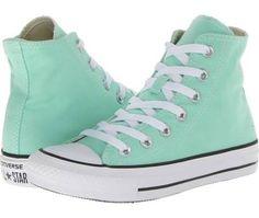 Mint Converse high tops