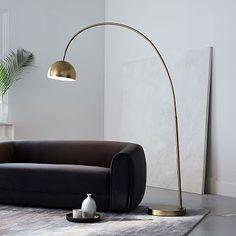 Overarching Metal Shade Floor Lamp #westelm