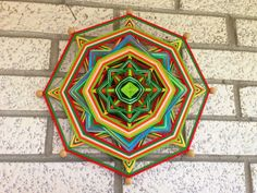 Handmade 8-sided Ojo de Dios Yarn Wood and Cotton by MagicMandala