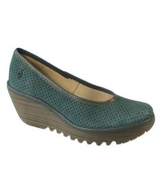 Love this Indigo Yalu Leather Wedge Pump on #zulily! #zulilyfinds