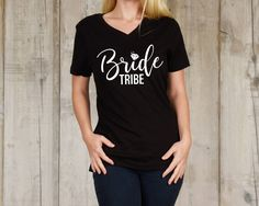 Excited to share the latest addition to my #etsy shop: Bride Tribe (Bachelorette Party) Black & White SVG PNG Download