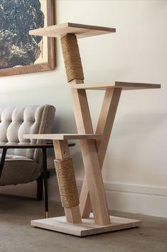Wooden Cat Tree, Diy Cat Tree, Wood Cat, Cat Trees, Modern Cat Furniture, Tree Furniture, Cat Tree Designs, Cat Gym, Cat Shelves