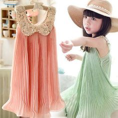 Baby Girl Kid Princess Sleeveless Pleated Dress Skirt A-line One-pieces Age 3-8T Baby Girl Princess, Cute Baby Girl, Baby Girls, Kids Girls, Tutus For Girls, Kids Outfits Girls, Girl Outfits, Mom Dress, Lace Dress