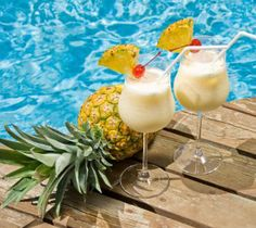 """Alcoholic cocktail """"Pina Colada"""" was created in the Caribbean Islands, and later became the official drink of Puerto Rico. His name means """"filtered pineapple"""""""