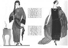 Changes in Mourning Traditions from Victorian to Post WW1 (Vogue - mourning, 1922)
