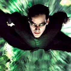 "Great Matrix images - Neo (""Doing his Superman thing!"") - Check out MLQ's The Matrix Trilogy quizzes at http://www.movielinesquiz.com/quizzes/franchises/the-matrix-trilogy"