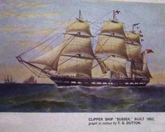 "Clipper Ship ""Sussex"" Built 1852"