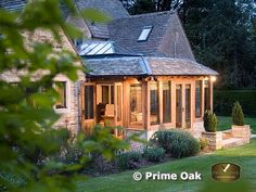 Prime Oak Buildings Ltd, Quality Oak framed Orangeries, Oak Framed Garden Rooms, Oak Conservatories, Oak Garages and Pool Buildings in English Oak. Orangery Conservatory Pergola and Gazebo in Oak Bungalow Extensions, House Extensions, Orangery Conservatory, Conservatory Ideas, Oak Framed Extensions, Cottage Extension, Oak Frame House, Roof Lantern, Building A Pool
