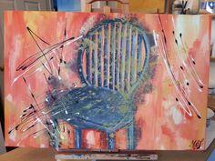 Acrylique Abstrait Chaise