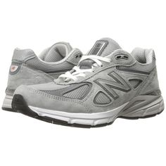 New Balance W990v4 (Grey/Castlerock) Women's Running Shoes (1 340 SEK) ❤ liked on Polyvore featuring shoes, athletic shoes, fleece-lined shoes, grey running shoes, breathable running shoes, mesh shoes and new balance athletic shoes