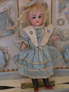 ~~~ Pretty All Bisque Mignonette in Original Presentation with from whendreamscometrue on Ruby Lane