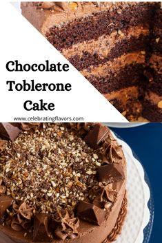 This is a very rich and moist chocolate cake that everyone will love. Toblerone chocolate cake is an excellent dessert for birthdays or any other occasion. Toblerone Cake Recipe, Toblerone Chocolate, Chocolate Cake, 40th Birthday Cakes, Birthday Desserts, Chocolate Buttercream Recipe, Cake Receipe, Chocolate Flavors, Sweet Recipes