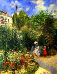 Camille Pissarro The Garden At Pontoise 1877 Painting For Sale, This  Painting Is Available As Handmade Reproduction. Shop For Camille Pissarro  The Garden At ...