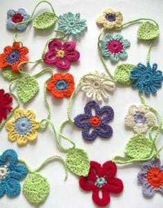 """Spring"" crochet garland.  www.happy-forms.com"