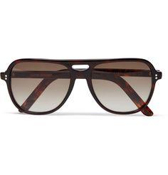 Cutler and Gross Acetate Aviator Sunglasses   MR PORTER