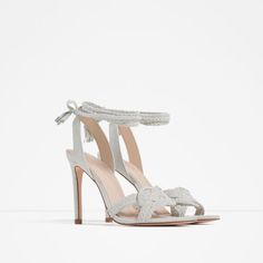 ZARA - WOMAN - LEATHER KNOTTED SANDALS