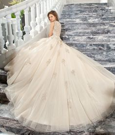 Couture 2015 Preview Style C205 by Demetrios  www.demetriosbride.com