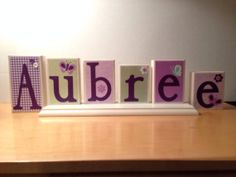 Personalized Name / Decorative Block Letters / by NicsLoveLetters, $36.00