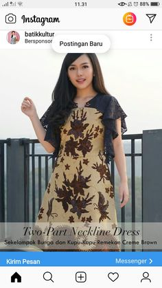 Trendy Dresses, Modest Dresses, Elegant Dresses, Nice Dresses, Casual Dresses, Dresses For Work, Dress Sewing Patterns, Pattern Sewing, Dress Batik Kombinasi