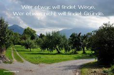 Wer etwas will findet Wege, Wer etwas nicht will findet Gründe. #weisheit #Zitate #deutsch