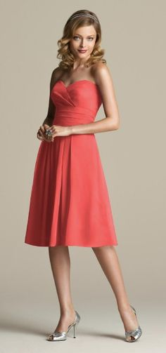 firecracker color; love the dress style!