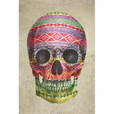 """East Urban Home Navajo Skull by Terry Fan Graphic Art on Canvas Size: 18"""" H x 12"""" W x 0.75"""" D"""